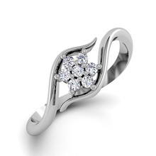 Everoyal New Fashion 925 Sterling Silver Rings For Girls Bride Wedding Jewelry Trendy Gold Crystal Snowflake Ring Female Bijou