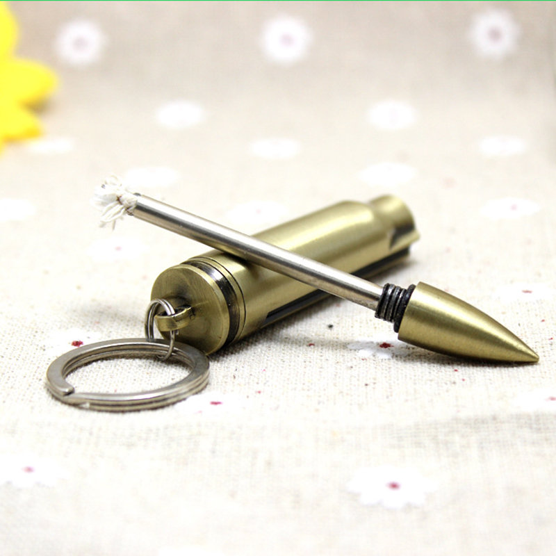 Refillable Bullet Shaped Permanent Match Lighter and Fire Starter Suitable for Camping 3