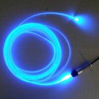 Бесплатная доставка 5 метров сторона свечение оптическое волокно + DC12V мини LED оптическое волокно свет комплекты для автомобиля освещения