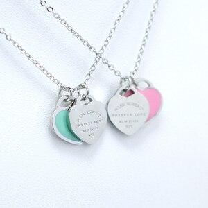 Женское Ожерелье FYSAFA, подвеска в форме букв «Love» зеленого/розового цвета