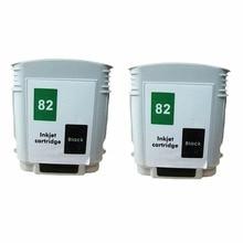 2 Black Ink Cartridges Cartridge For HP HP82 82 XL HP82XL 82XL CH565A Designjet 800ps 815 815mfp 820 820mfp Inkjet Printer