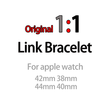 цена на Strap for Apple Watch Band 44mm 40mm 42mm 38mm iwatch 4 3 2 1 Removable Stainless Steel Link Bracelet Wrist Smartwatch Watchband