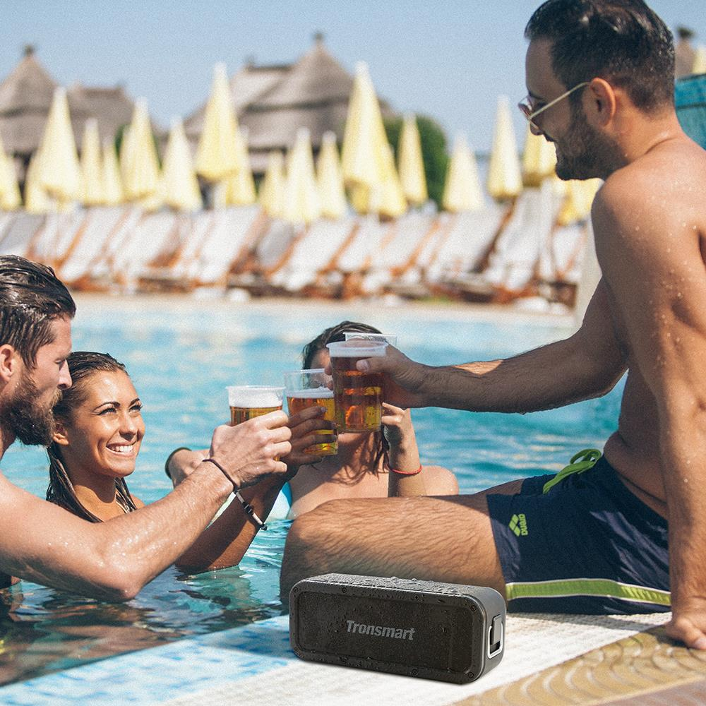 Tronsmart Element Force Bluetooth Speaker IPX7 Waterproof Portable Speaker 40W Computer Speakers 15H Playtime with Subwoofer,NFC 01
