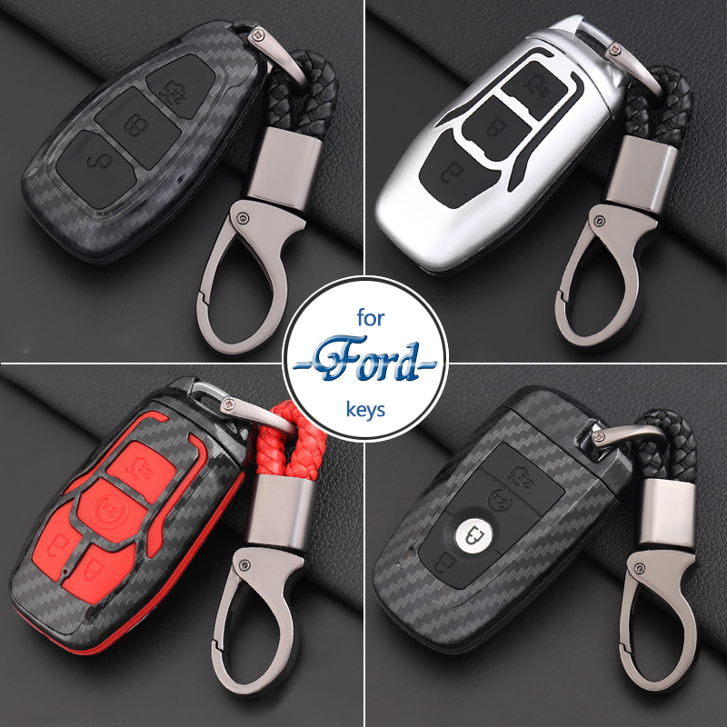 Car Styling Keychain For Ford Focus/Fiesta/Mustang/Mondeo/Kuga/Eco sport/Edge/Exploror Key Ring Organizer Key Case Cover Holder