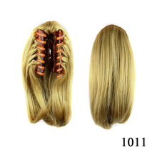 8 Colors Short Straight Brown BlackPony Tail Hair Bun Synthetic Extensions