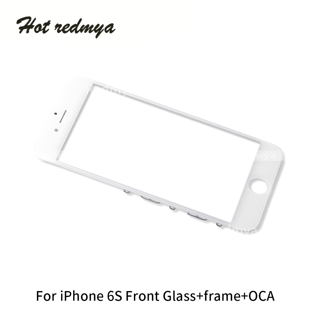 10pcs/lots Outer Glass With OCA+Frame For iPhone 6S Touch Screen Digitizer Panel Lens Replacement Front Glass