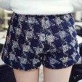 De alta qualidade mulheres elegantes Shorts Short magro primavera All jogo calças curtas lantejoulas decorado xadrez calções marca BL23