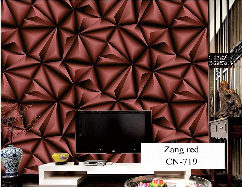 Papier peint pour murs 3 D géométrie trdimensionnelle moderne 4D Tv fond papier peint rouleau argent gris papiers peints pour salon - 4