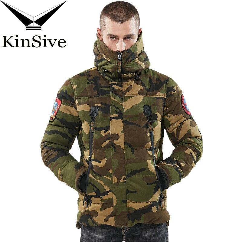 Marque militaire vestes hommes Camouflage à capuche coupe-vent épaissir manteau hiver coton rembourré veste hommes Parka chaud mâle pardessus