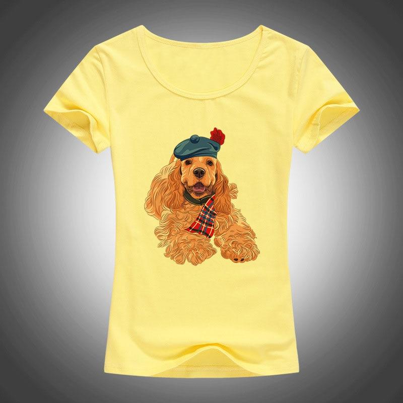 2017 haustiere schönen hund gedruckt t-shirt frauen kühlen sommer - Damenbekleidung - Foto 4