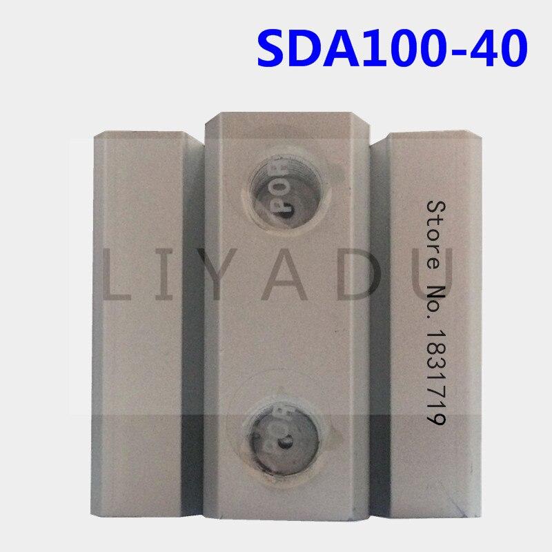 SDA100-40 thin cylinder Series 100mm Bore 40mm Stroke SDA100*40 Aluminium alloy cylinder SDA100X40SDA100-40 thin cylinder Series 100mm Bore 40mm Stroke SDA100*40 Aluminium alloy cylinder SDA100X40