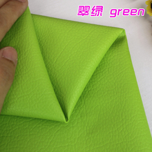 Green Big Lychee Pattern PU Synthetic Leather Faux Leather Fabric Upholstery Car Interior Sofa Cover  54″ Wide Per yard