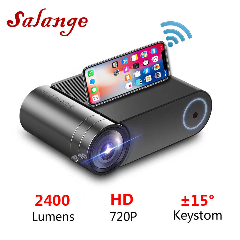 Salange 720P Projector Video YG420 Bluetooth 1080p 1280x720 Beamer WIFI Lumens 2400 LED