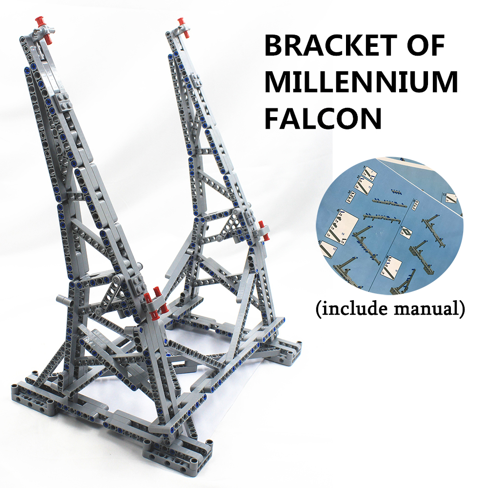 MOC Vertical Display Stand For Millennium Falcon Compatible With Lego Stand For No.05132 And No.75192 Ultimate Collector's Model