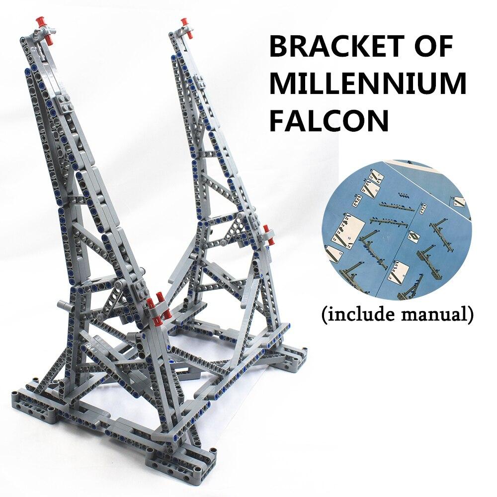MOC Vertical Présentoir pour Millennium Falcon Compatible avec lego de Stand pour No 05132 et No 75192 Ultimate Collector modèle