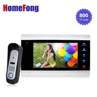 Homefong 7 Inch Video Door Phone Doorbell Intercom System With Record 1 Monitor And 1 Doorbell