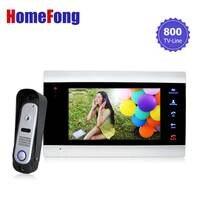 Homefong 7 Inch Video Door Phone Doorbell Intercom System With Record 1 Monitor And 1 Doorbell