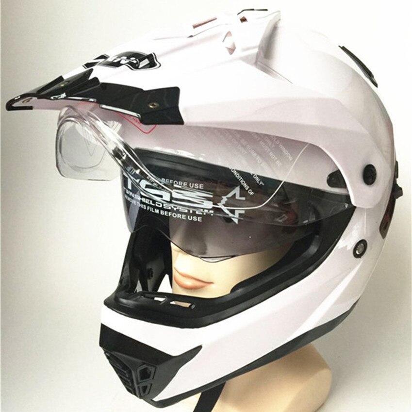 Livraison gratuite Dirt Bike Casque Hors-Route Casque Intégral pour ATV Motocross MX Enduro Quad Sport, perles magiques, Grand blanc