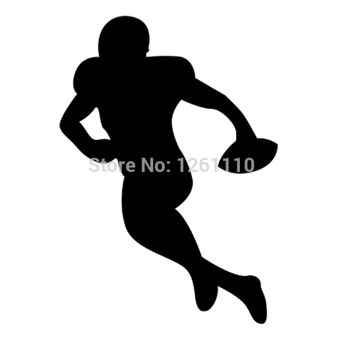 American Football Player SILHOUETTE Rugby Sport Man Ball ...