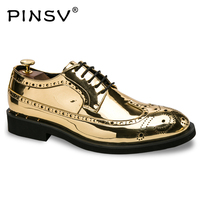 New Bullock High Quality Leather Men Shoes Brogues Slip On Bullock Business Men Oxfords Shoes Men