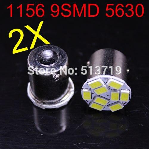 2014 new 2X 1156 P21W 5630 car LED 9 SMD light turn signal steering lamp reversing back up light xenon white aut paking