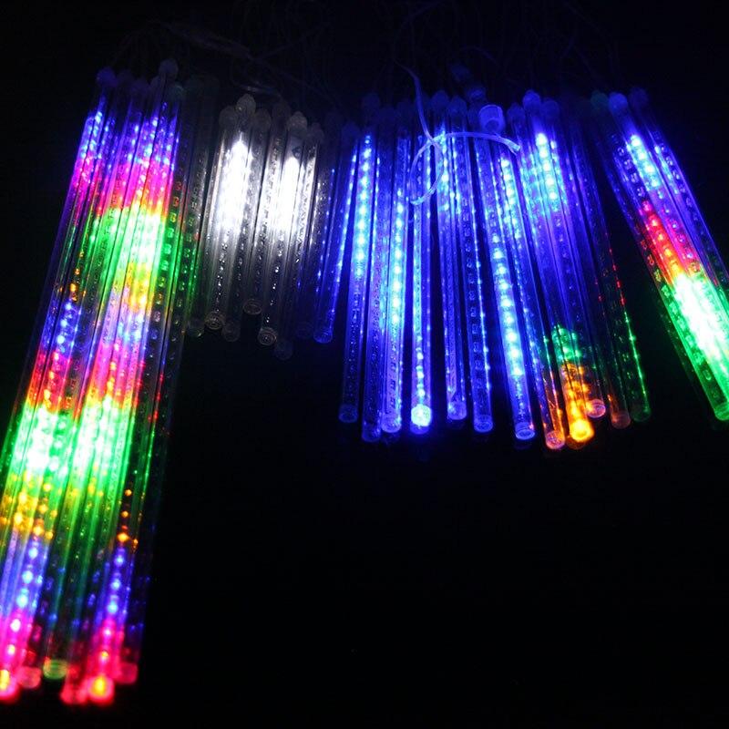 Открытый Рождество неоновые огни водопад огни красочные декоративные огни водонепроницаемый светодиодные фонари метеорный поток 240 лампы