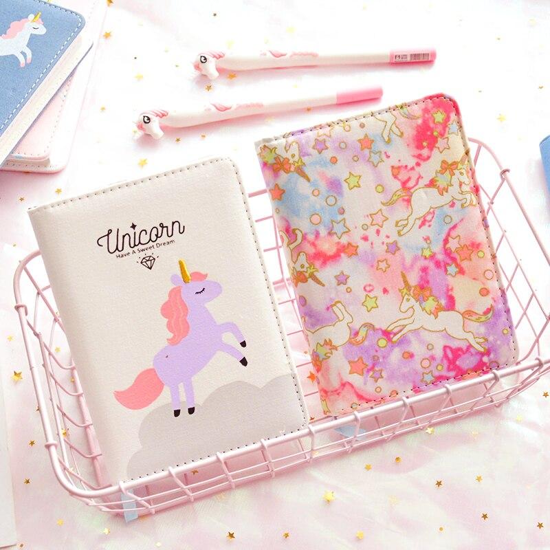 2019 Kwaii lindo unicornio sin fecha diario semanal mensual planificador cuaderno Plan colorido organizador diario lácteos A6