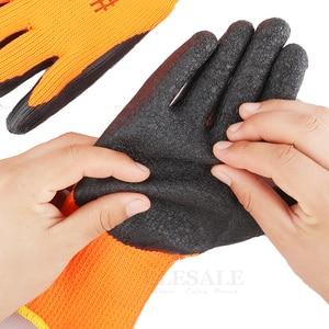 Image 5 - 10 Pairs Winter Warm Working Gloves Anti Slip Waterproof Latex Rubber Coated Work Safety Gloves For Garden Repairing Builder