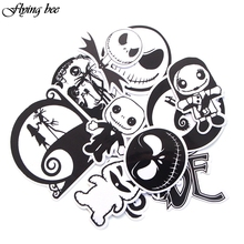 Flyingbee 12 Pcs The Nightmare Before Christmas Graffiti Stickers Waterproof for Kids DIY Luggage Laptop Skateboard Car X0016