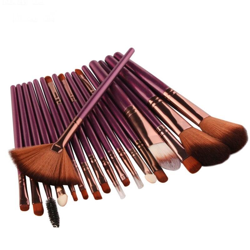 18pcs one set Makeup Brushes Synthetic Hair Eyeshadow Eyeliner Lip Make Up Brush Foundation Set Tools Kit Professional Cosmetics
