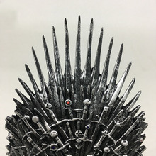Movie Game of Thrones Iron Throne King Seat Model NIGHT KING Jon Snow Cosplay Props Figure Resin Collectible the iron throne model in game of thrones figure collective toys