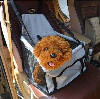 2016 new high quality Foldable Pet Dog Cat Car Crate Lookout Booster Seat Bag Carrier Travel Bed car seat cover