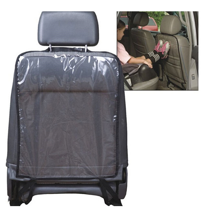 2pcs/lot Transparent Car Seat Back Protector 58*44cm Dust-proof Mat For Children Car Seat Covers Protect From Dirt Mud