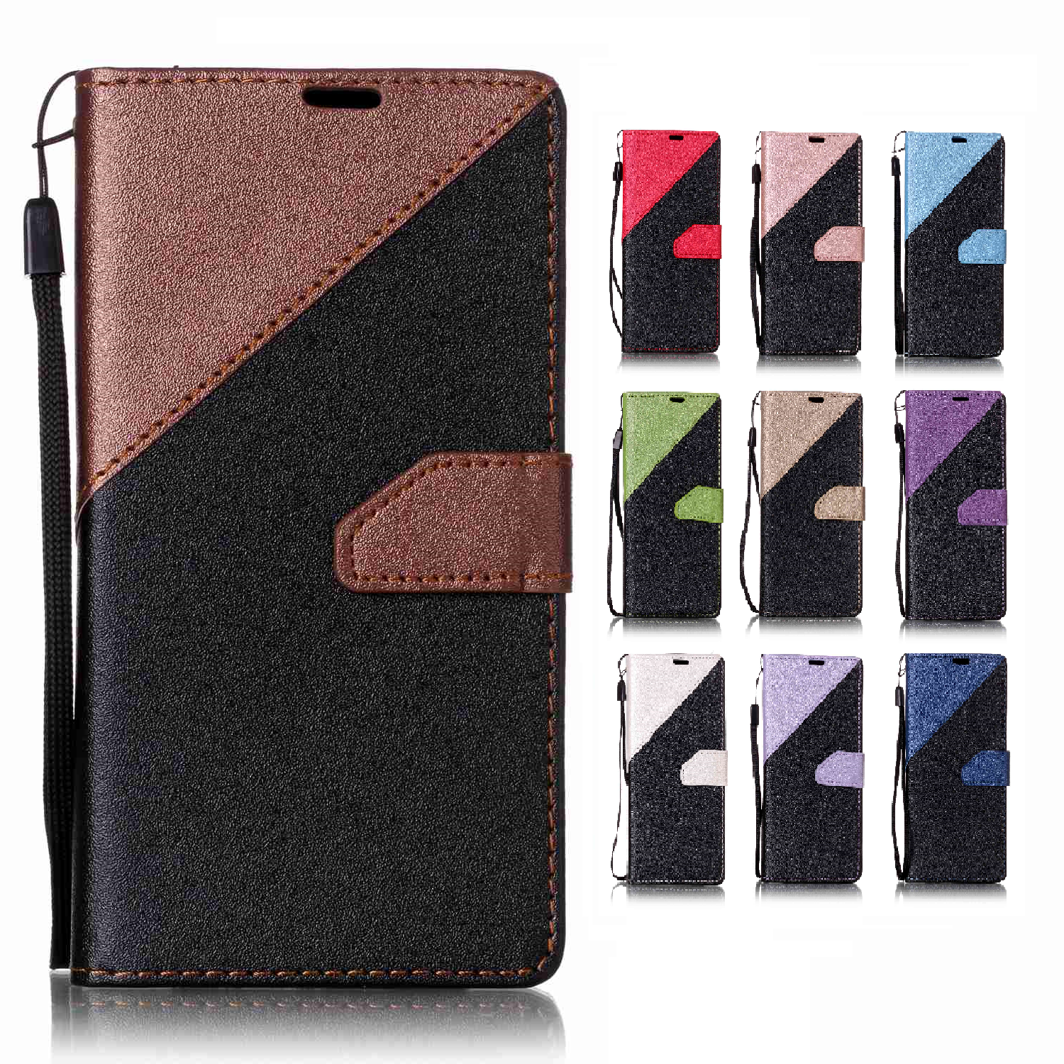 Matte Leather Cover Flip Case for Apple 7 Plus iPhone 7Plus iPhone7Plus 5.5 Phone Cases with Stand Card Holder