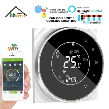 HESSWAY 2P cooling heating WIFI room thermostat temperature control switch for air conditioner by Works with Alexa Google home