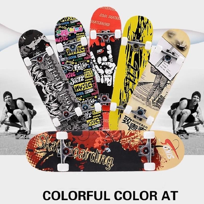 2017 street limit Skateboard Graffiti Style Four wheel Skateboard Dragon Retro Cruiser Longboard Skate Long Board pennyboard