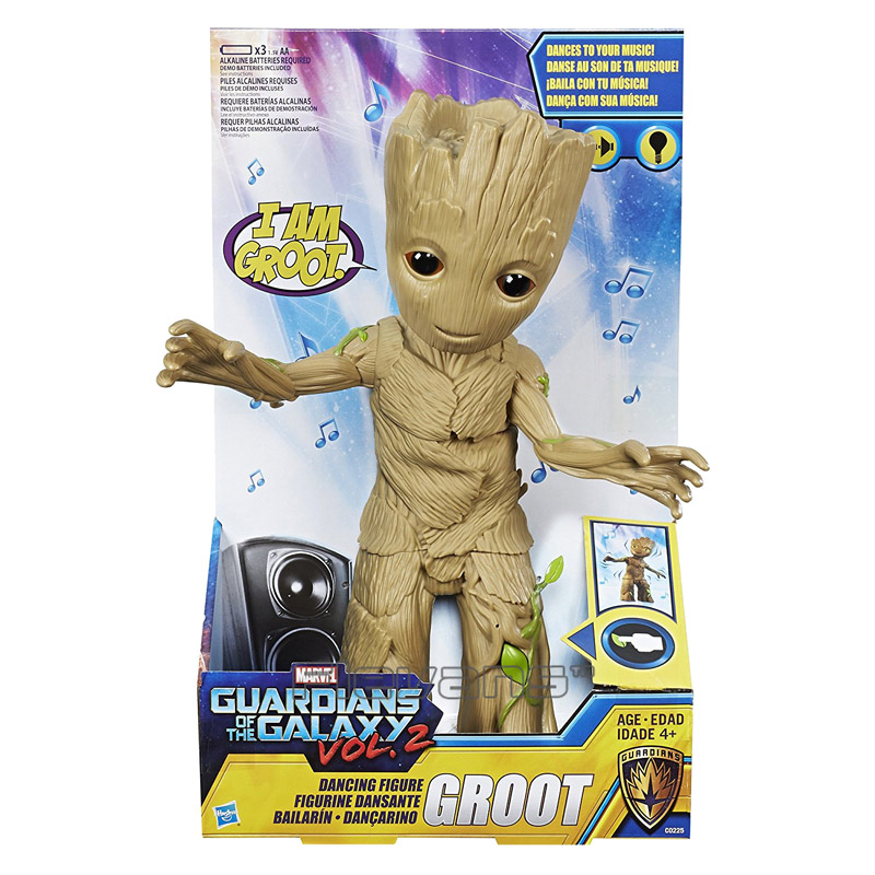 Guardians of the Galaxy 2 Tree Man Dancing with Music PVC Action Figure Collectible Model Toy Brinquedos 30cm