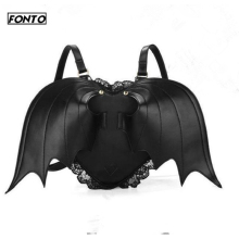 цена на Hot Personality Casual Female Backpack Bat Wings Backpack for Women Leather Ladies Personality Backpack Womens Bag