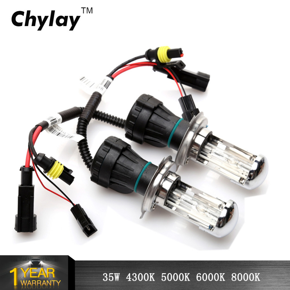 2pcs bi xenon H4 xenon lamp 35W H13 9004/9007 HID Bi xenon Replacement bulb HID Headlight 4300K 5000K 6000K 8000K h4 bi xenon 2pcs hid conversion kit 9004 xenon headlight bulb replacement light 150w 6000k
