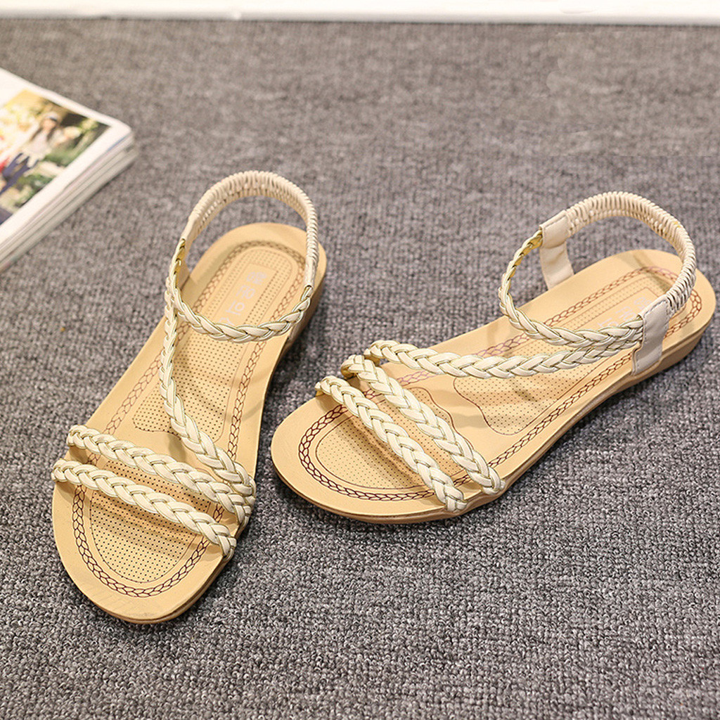 2c06c25b8808 ... Sandals Spring Summer Ladies Beach Shoes Peep Toe Shoes Casual Flat  Heel. sku  32979790420