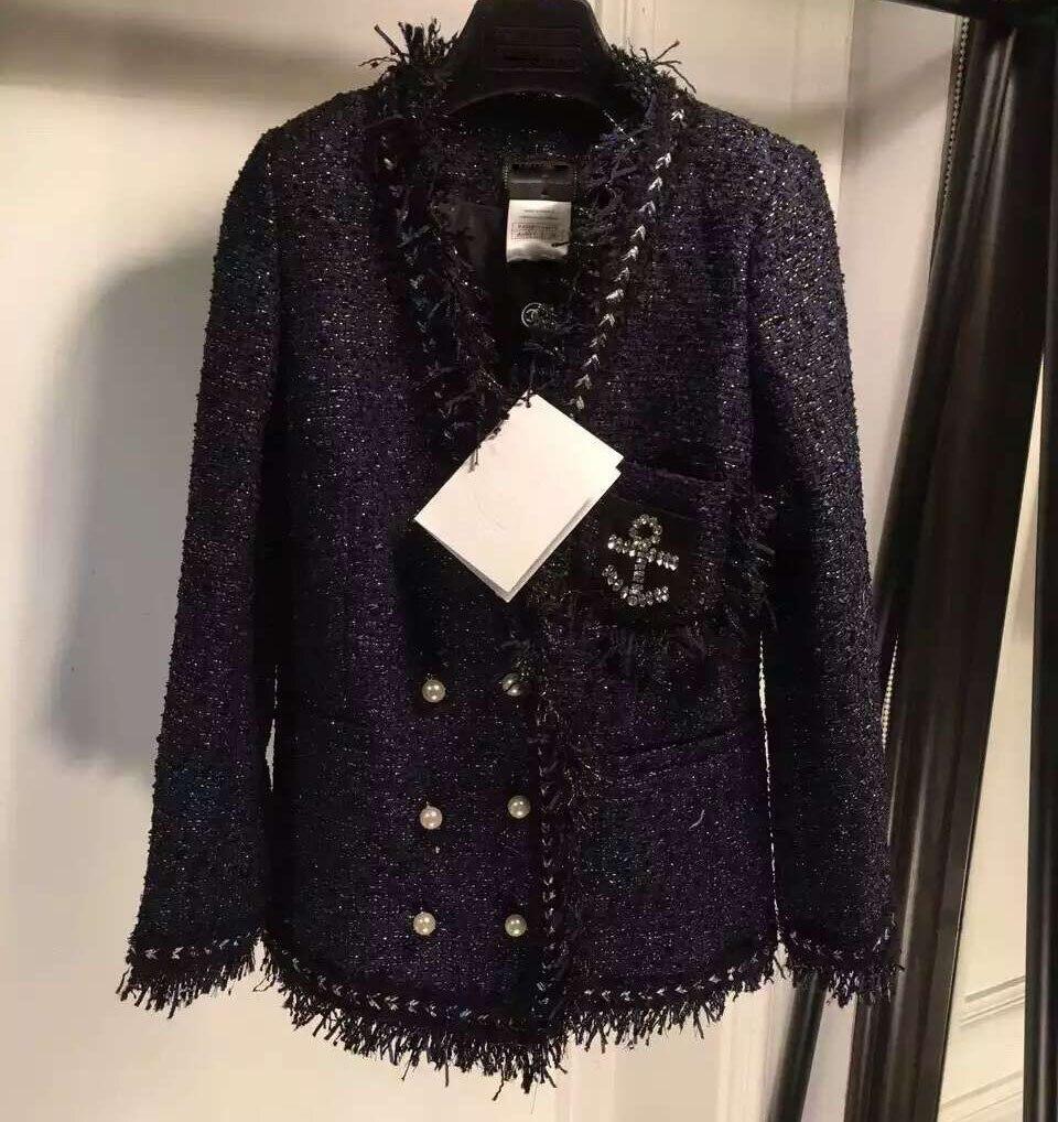 Mulheres casacos básicos, incrível pérola botões casaco de inverno jaqueta feminina inverno abrigos mujer elegante casaco de tweed casaco de inverno