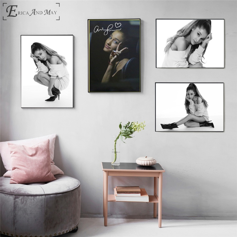 Ariana Grande Portrait Photos Canvas Printed Painting Wall Pictures Home Decor Posters And Prints Art For Living Room Decoration in Painting Calligraphy from Home Garden
