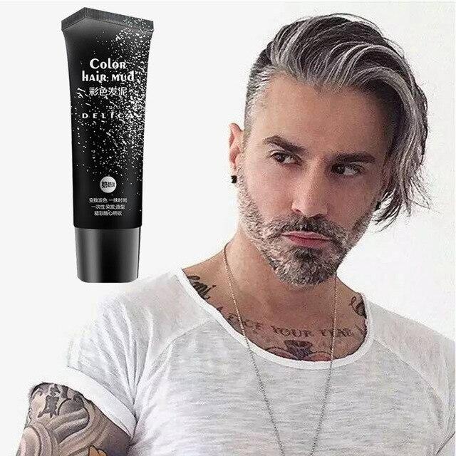 50 мл серебристо-серый одноразовые быстро форму и легко цвета гель для волос помада, цвет волос грязи для использован как мужчин, так и женщин