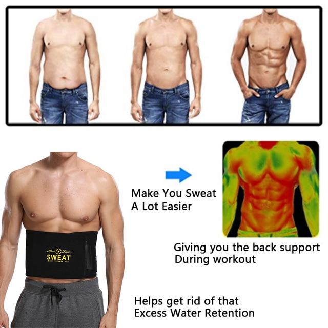Neoprene Man Waist Trainer Slimming Belt Tummy Reducing Belts Body Shapers Promote Sweat Shapewear Men Shaper Modeling Strip 2