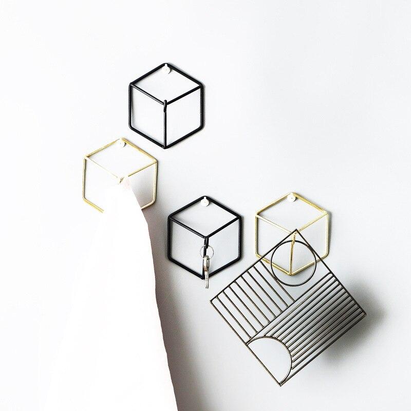 Smeedijzeren Geometrische Hanger Haak Muur Opknoping Slaapkamer Bag Kleding Sieraden Muur Wanddecoratie 3