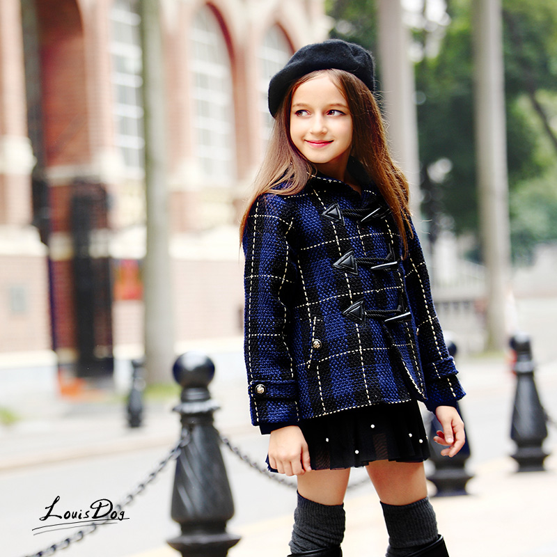 Cute Kids Girls Coat Thick British Style Girl Autumn