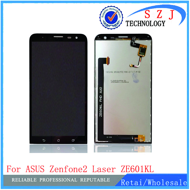 New 6'' inch Full LCD Display + Touch Screen Digitizer Glass Assembly For Asus ZenFone 2 Laser ZE601KL Z011D Free shipping black full lcd display touch screen digitizer replacement for asus transformer book t100h free shipping