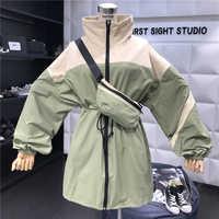 2019 otoño chaqueta Streetwear Patchwork chaqueta chaquetas básicas abrigos señoras harajuku ropa chaqueta mujer