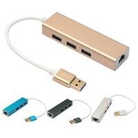 Usb 3.0 gigabit ethernetアダプタ付き3ポートハブにrj45 lanネットワークポートカード用のwindows xp 7 8/mac os用ラップトッ