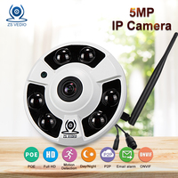ZSVEDIO IP Camera Wi Fi 720P 960P 1080P Surveillance Camera POE Fisheye CCTV HD 360 Degree